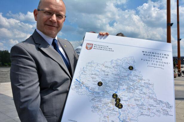 """Mapa nowych """"czarnych punktów"""" Komisariat Rzeczny Policji"""