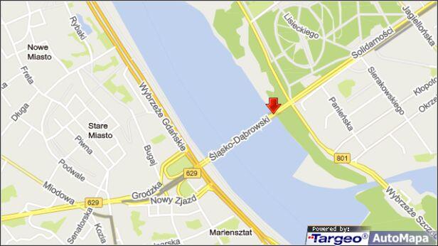 Kolizja na moście targeo