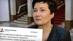 Gronkiewicz-Waltz odpowiada: zwrot z upoważnienia Kaczyńskiego
