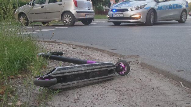 13-latek na hulajnodze potrącony na przejściu