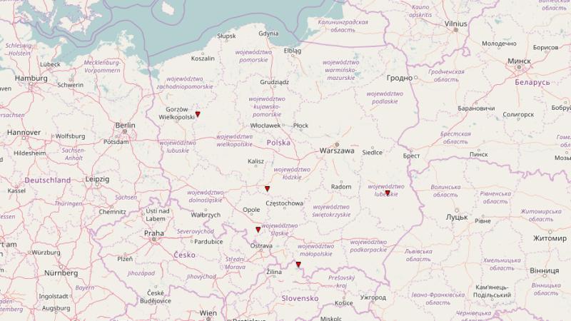 Trąby powietrzne w Polsce od początku 2017 roku (ESWD, CC BY SA)