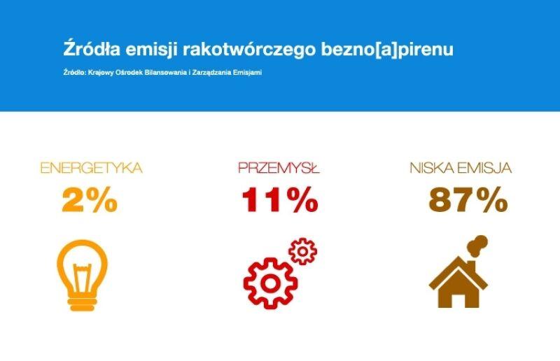 Źródła emisji rakotwórczego benzo(a)pirenu (Polski Alarm Smogowy)