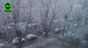 Poświąteczny śnieżny poranek w Rzeszowie