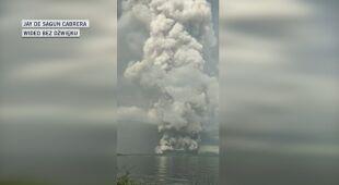 Erupcja filipińskiego wulkanu Taal