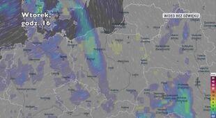 Prognozowane opady deszczu w najbliższych dniach